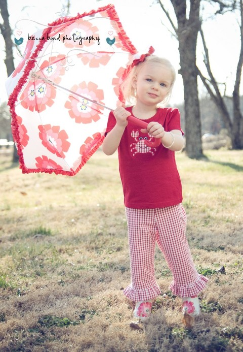 child photography portrait in the sun York SC, handmade boutique clothes