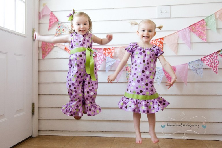 children in play portrait by becca bond photography in matching outfits by Daffodils and Daisies