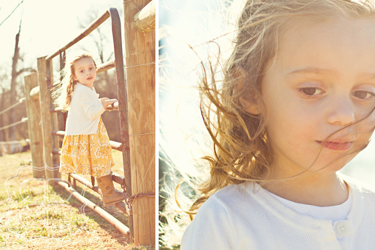 Child photographer in Charlotte NC makes vintage styled portrait of daughter