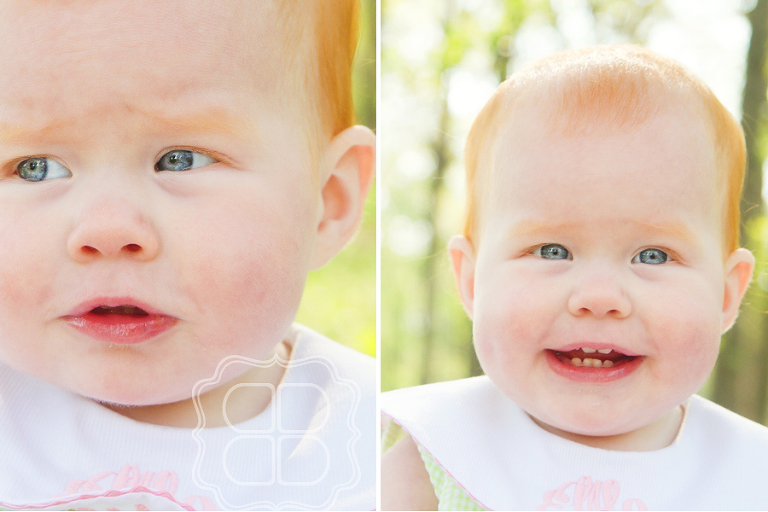 sweet baby expressions captured by Charlotte photographer
