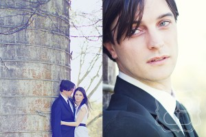 Beautiful Charlotte wedding couple with a photographer