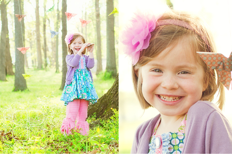 Charlotte children's picture with origami butterflies
