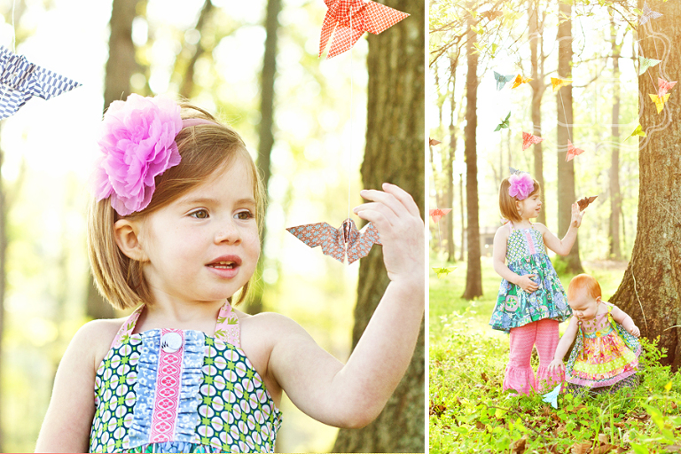 Child checking out butterflies