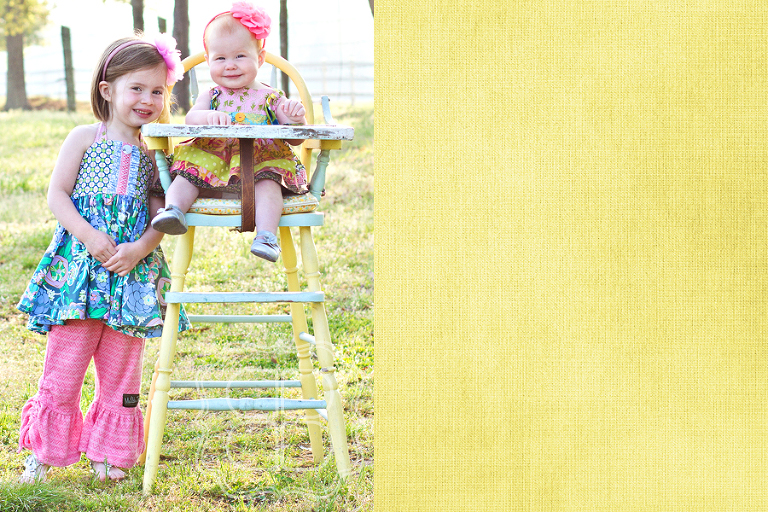 Children's photo in a vintage high chair