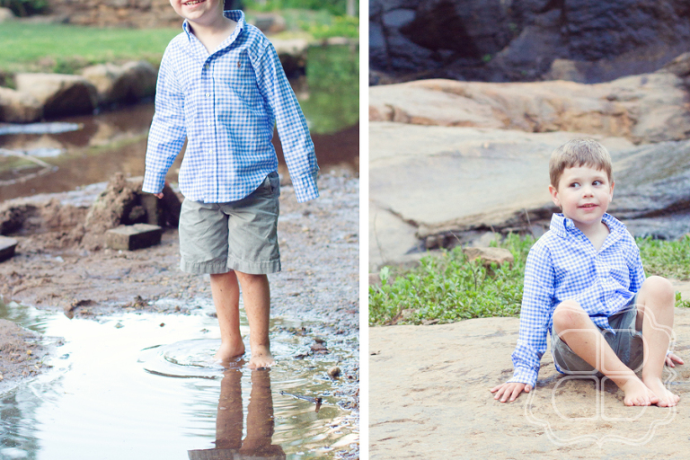 Photographer captures a kid at play at Falls Park in Greenville SC.