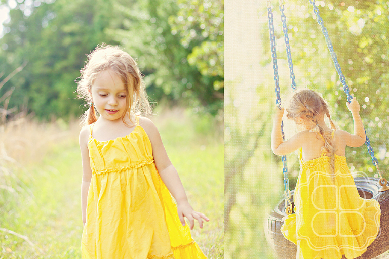 Charlotte children's photographer's outdoor portrait