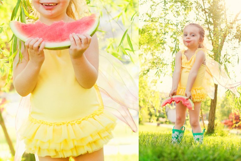 Willow rose loves watermelon!