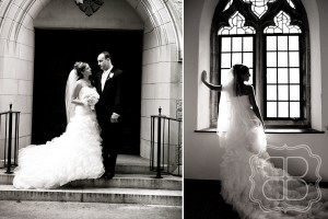 Wedding pictures at Covenant Presbyterian Church in Charlotte NC