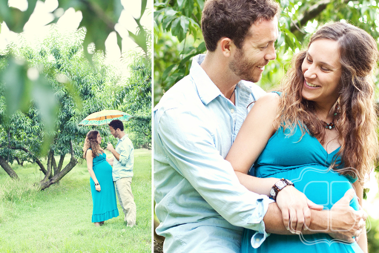 Beautiful maternity shots of a Charlotte couple, by baby photographer