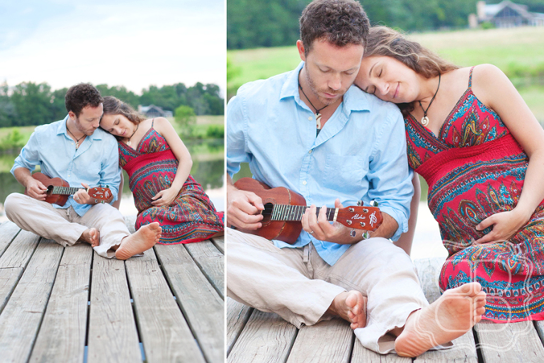 Snuggly couple maternity photo session near Charlotte NC