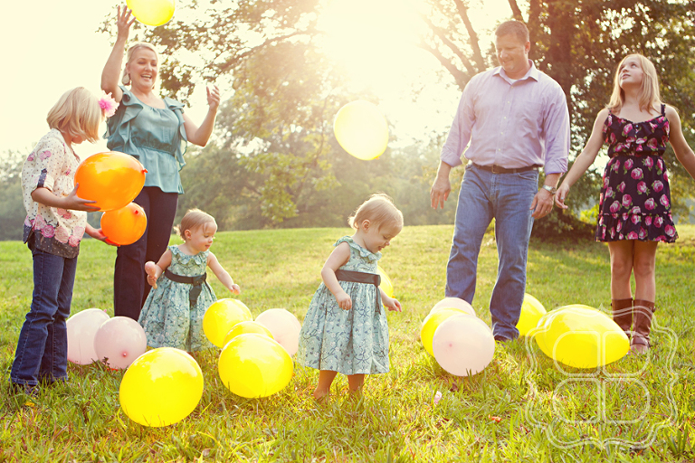Family photo with Balloons