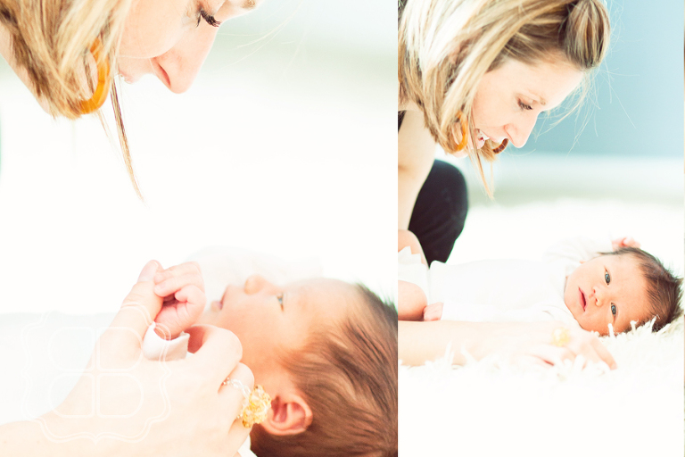 Mother and her newborn baby by Charlotte NC photographer