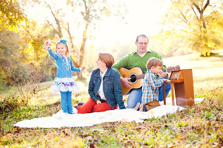 Charlotte family plays music together in this portrait