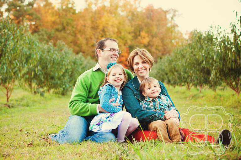 Family portrait taken outside near Charlotte NC by photographer