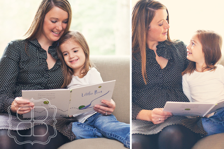Photo of Mom and child read a story