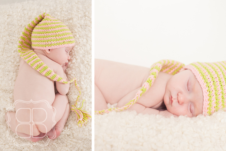 A baby sleeps soundly for the photographer