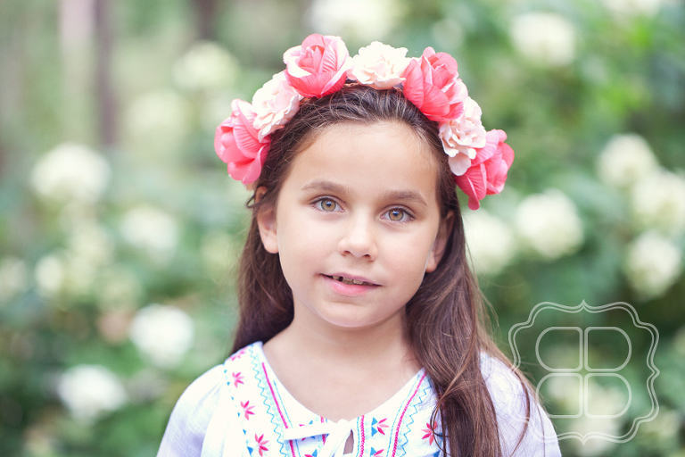 really beautiful girl with flower crown