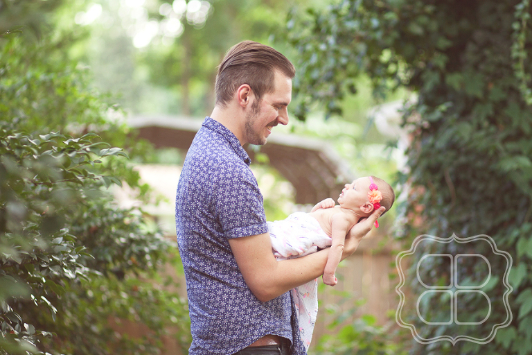 Charlotte photographer portrait of father and baby