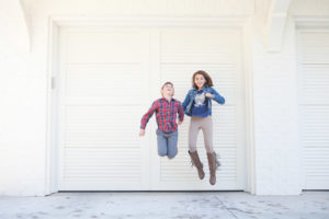Siblings jump high