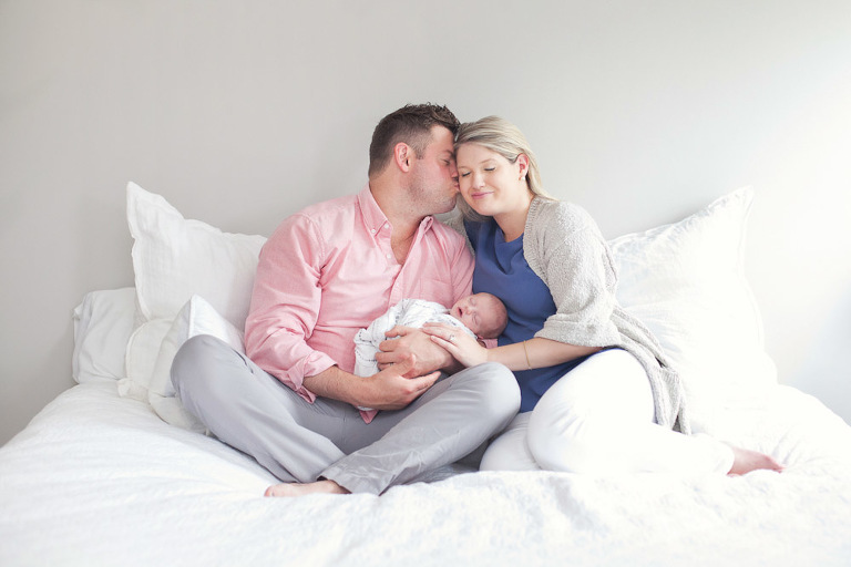 Lifestyle newborn family picture