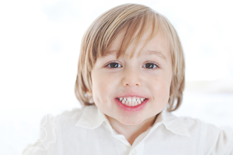 Giggly child photo