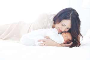 Beautiful mother in dreamy photo