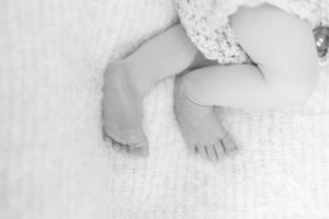 Baby Feet in black and white