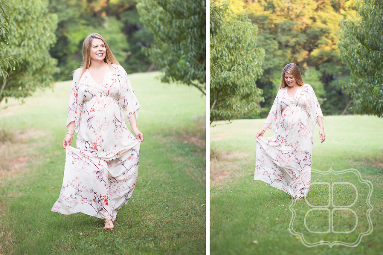 Maxi dress maternity photo shoot Charlotte