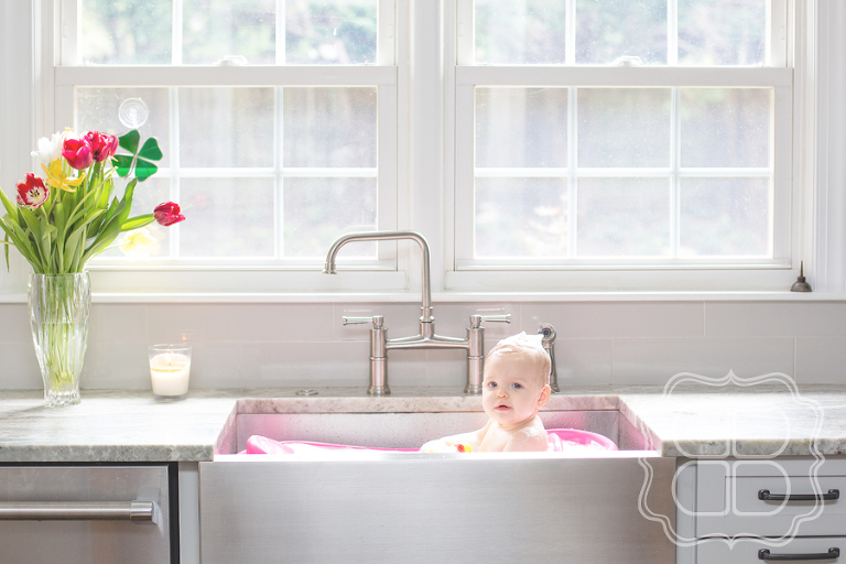 Baby in Sink Bath